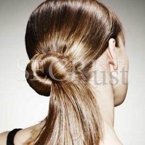 Στριφτός κότσος για μακριά μαλλιά