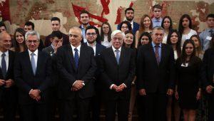 ο Πρόεδρος της Δημοκρατίας απένειμε βραβεία στους κορυφαίους μαθητές