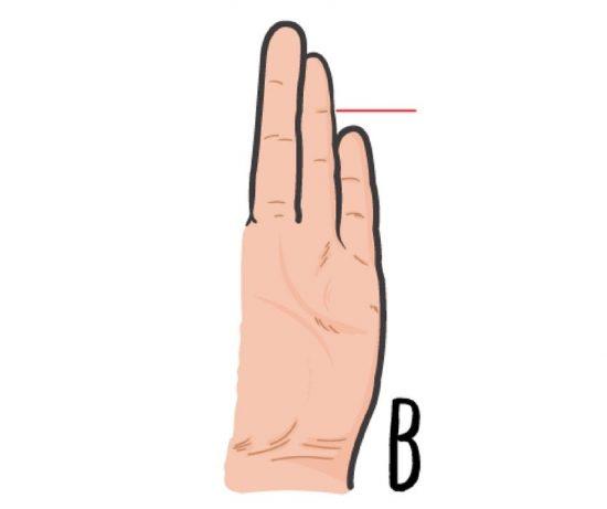 Κοιτάξετε το ύψος του μικρού σας δακτύλου. Τι μας φανερώνει;