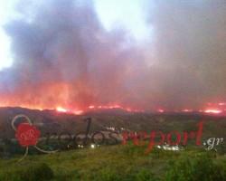συνεχίζεται η πυρκαγιά Ρόδο