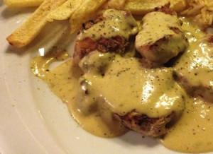 Φιλέτο κοτόπουλο με σάλτσα μουστάρδας