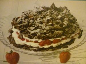 Χριστουγεννιάτικη τούρτα σοκολάτας με κορνφλέικς