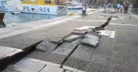 Απίστευτες εικόνες από τον σεισμό των 6,4 βαθμών της κλίμακας Ρίχτερ